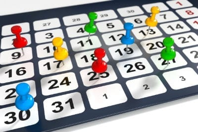 Observatoire EJP : le calendrier et région