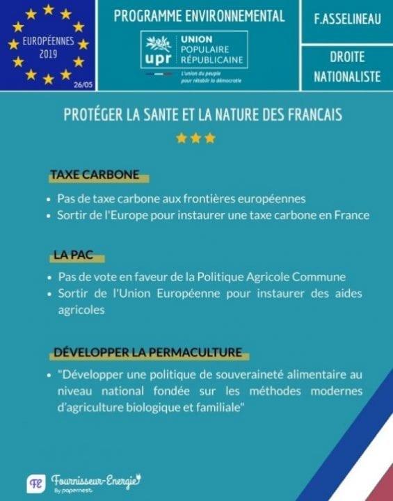 UPR élections européennes