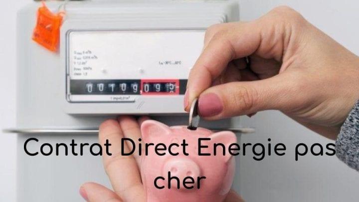 Contrat Direct Energie pas cher