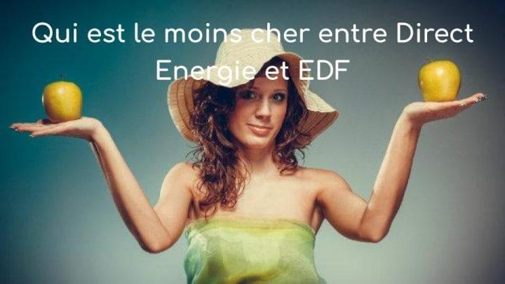 Qui est le moins cher entre direct energie et edf