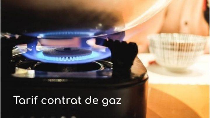 Tarif contrat de gaz