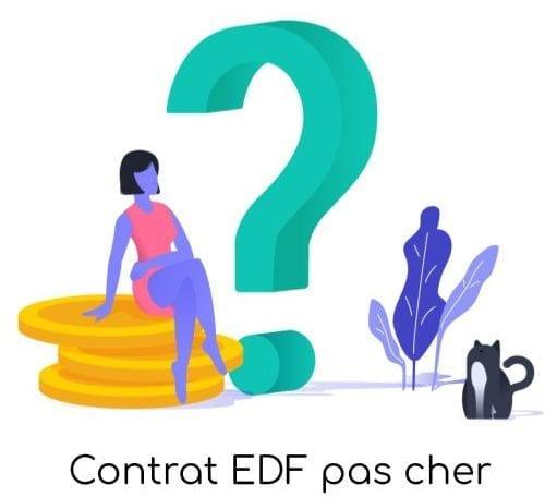 Contrat EDF pas cher