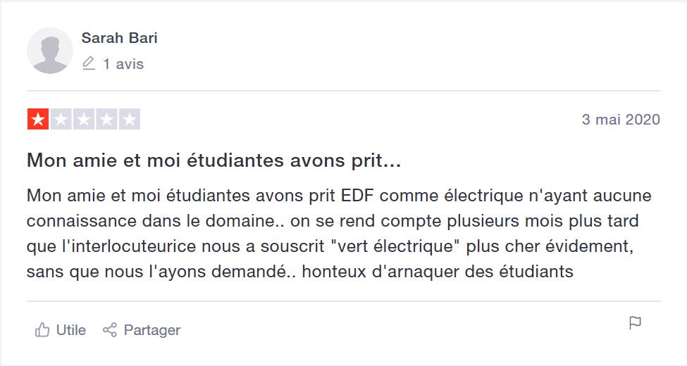 trustpilot EDF AVIS 4
