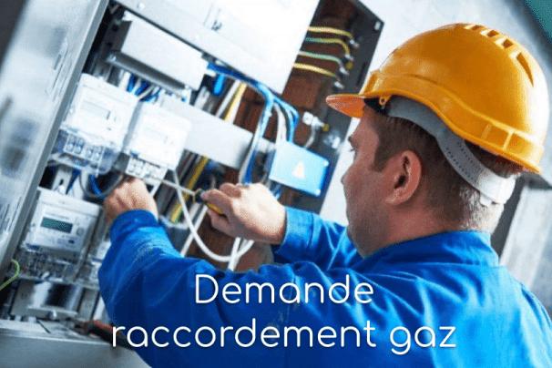 demande raccordement gaz